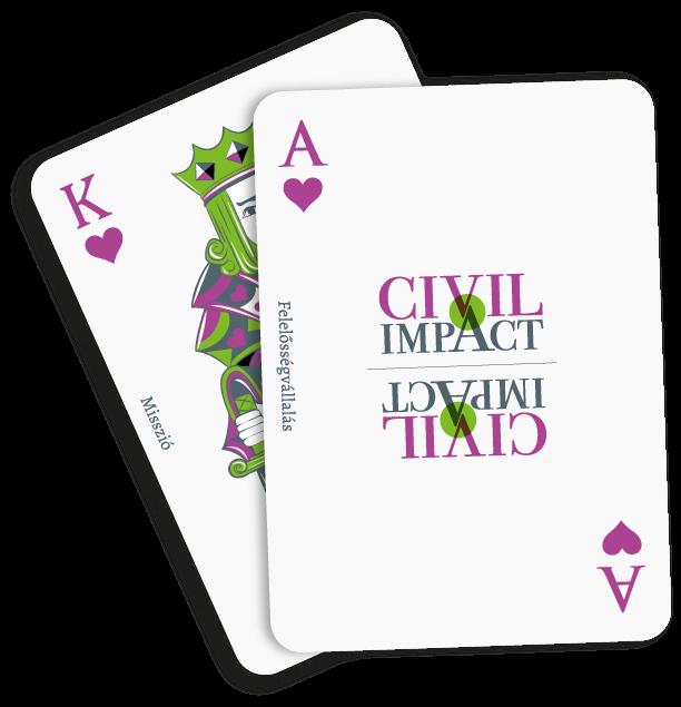 Civil Impact francia kártya
